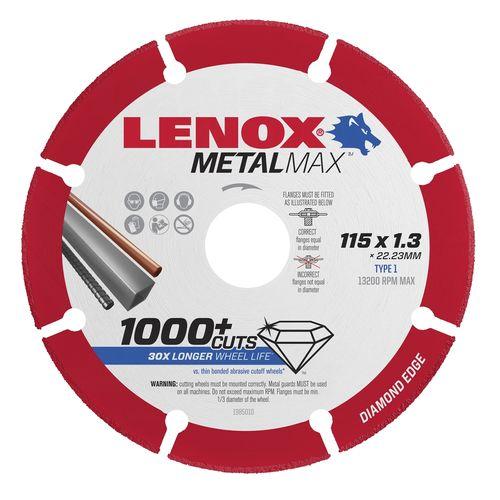 Lenox 115 x 22.2 x 1.3mm Metal Max Diamond Blade