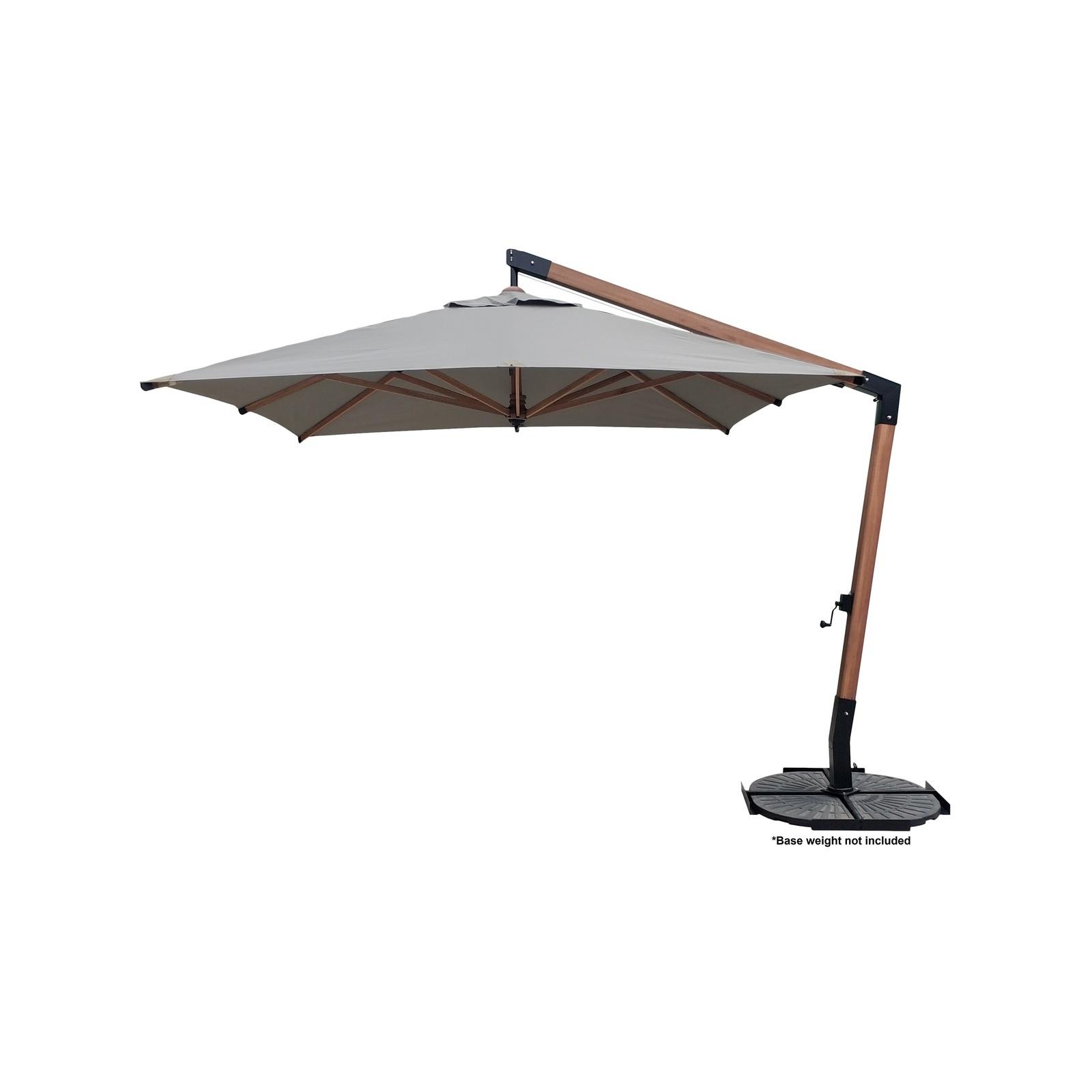 Mimosa 3 x 3m Caymen Wooden Cantilever Umbrella