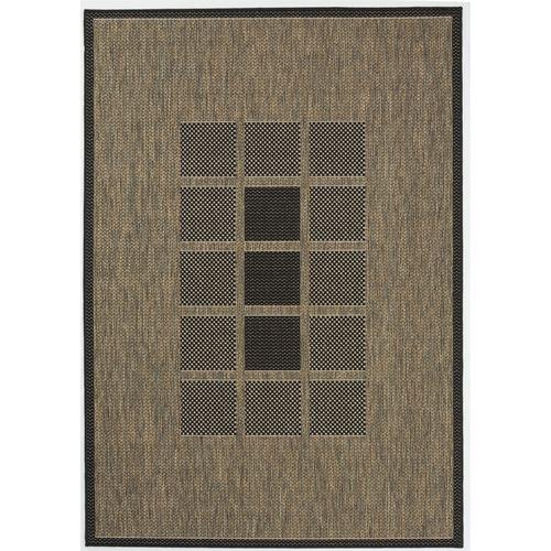 Hufflett 160 x 230cm Grey Polypropylene Ceduna Windows Flat Weave Rug