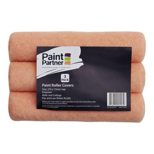 Paint Partner 270mm Paint Roller Cover - 3 Pack
