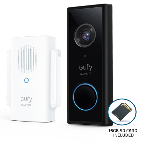 Eufy Video Doorbell 1080P with Mini Repeater and 16GB SD Card