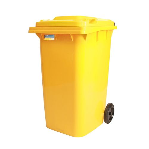 Handy 240L Yellow Wheelie Bin