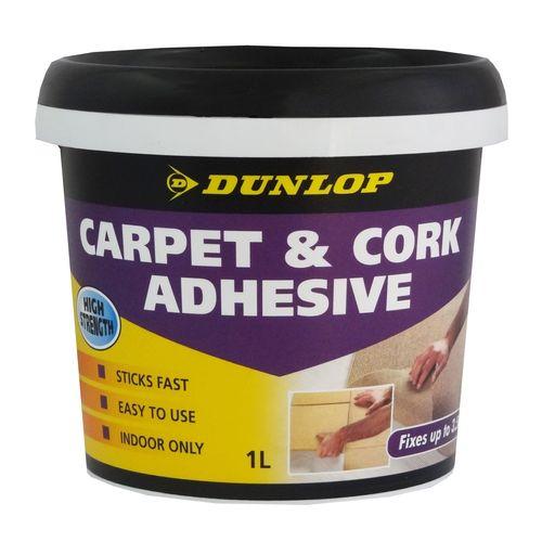 Dunlop 1L Multipurpose Carpet And Cork Adhesive