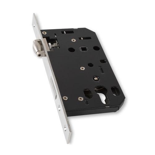 Lemaar 60mm Polished Stainless Steel Euro Rollerbolt Mortice Lock
