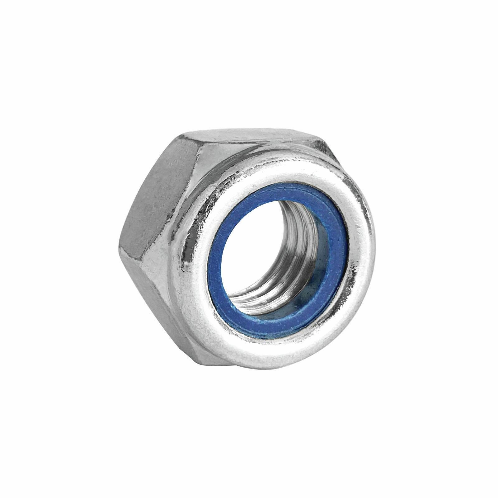 Pinnacle M5 Zinc Plated Nylon Lock Nut - 8 Pack