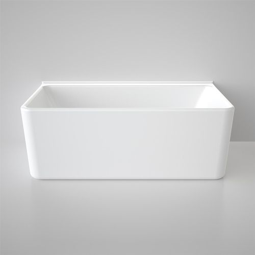 Caroma Freestanding Cube Bath 1600mm Back to Wall White