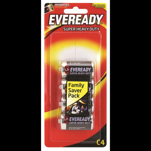 Eveready C Super Heavy Duty Battery - 4 Pack