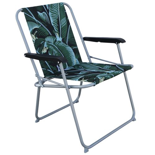 Marquee Tropical Palm Spring Tension Folding Chair