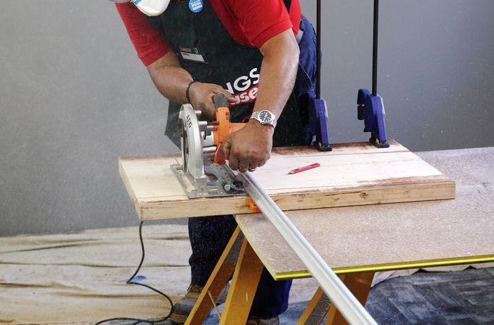 DIY Step Image - How to make a timber bath caddy . Blob storage upload.