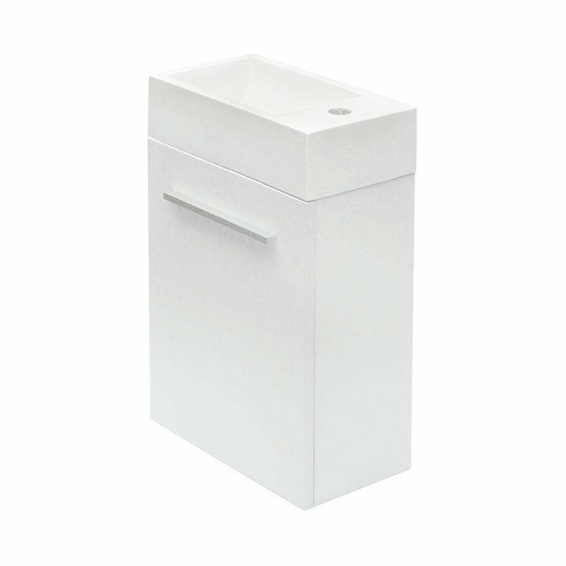Mondella 400mm White Rococo Wall Hung Vanity With Basin