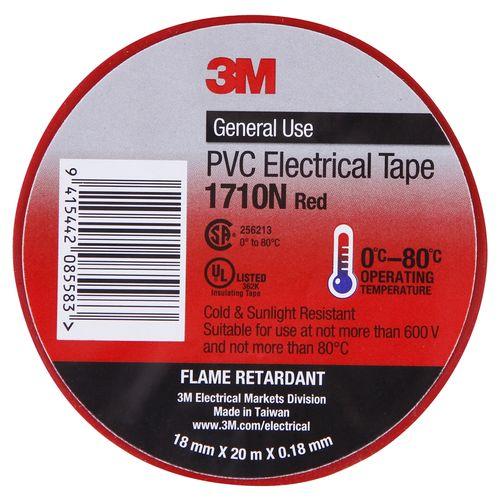 3M Electric/Vinyl Tape 18mmx20m Red