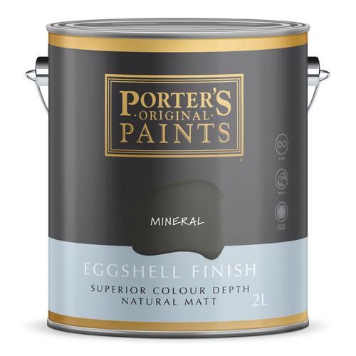 Porter's 2L Mineral Eggshell Finish Broadwall Washable Paint