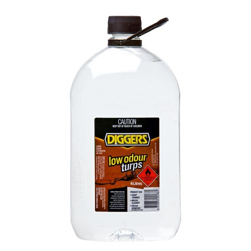Diggers 4L Low Odour Turpentine