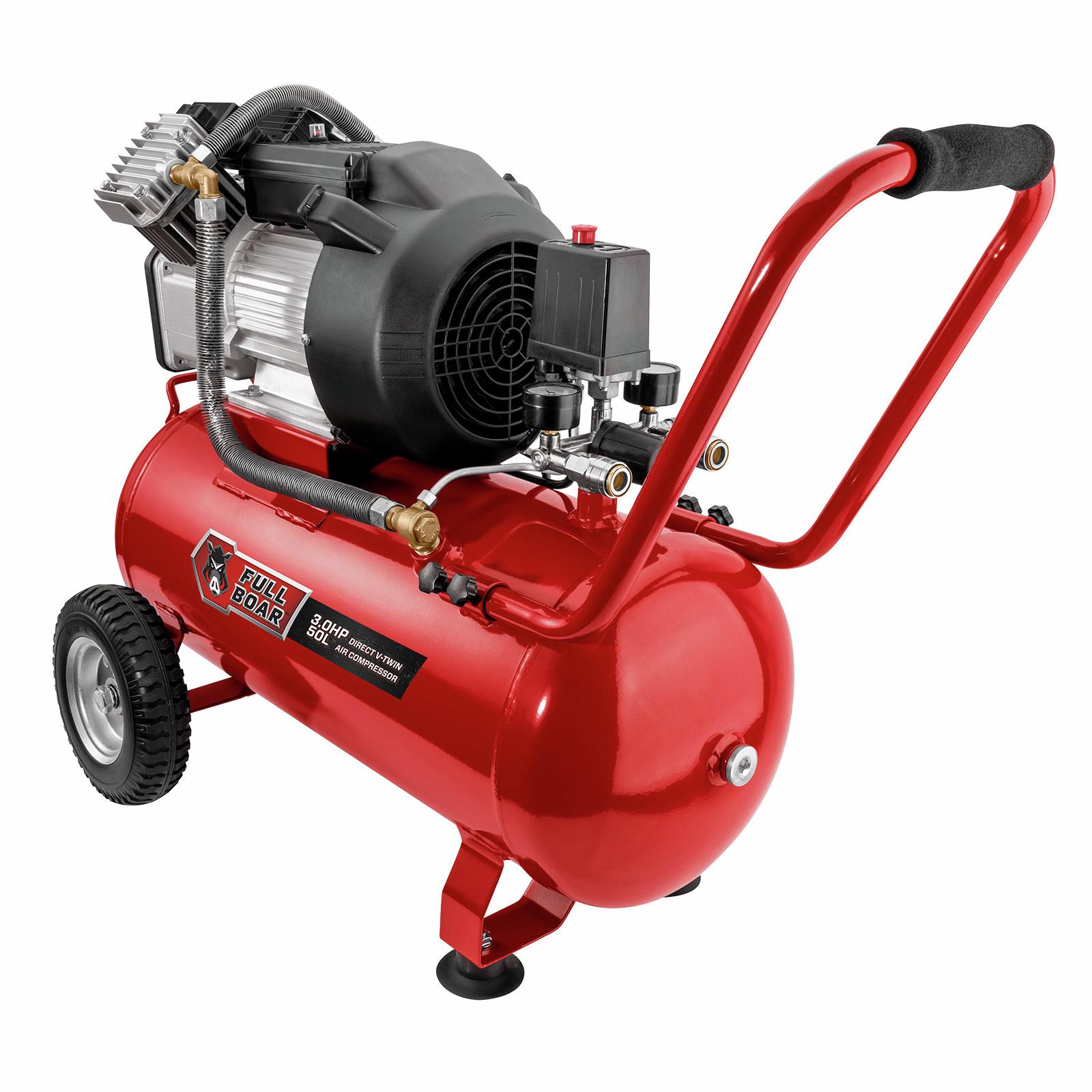 Full Boar 3HP 50L Oil Free V-Twin Air Compressor
