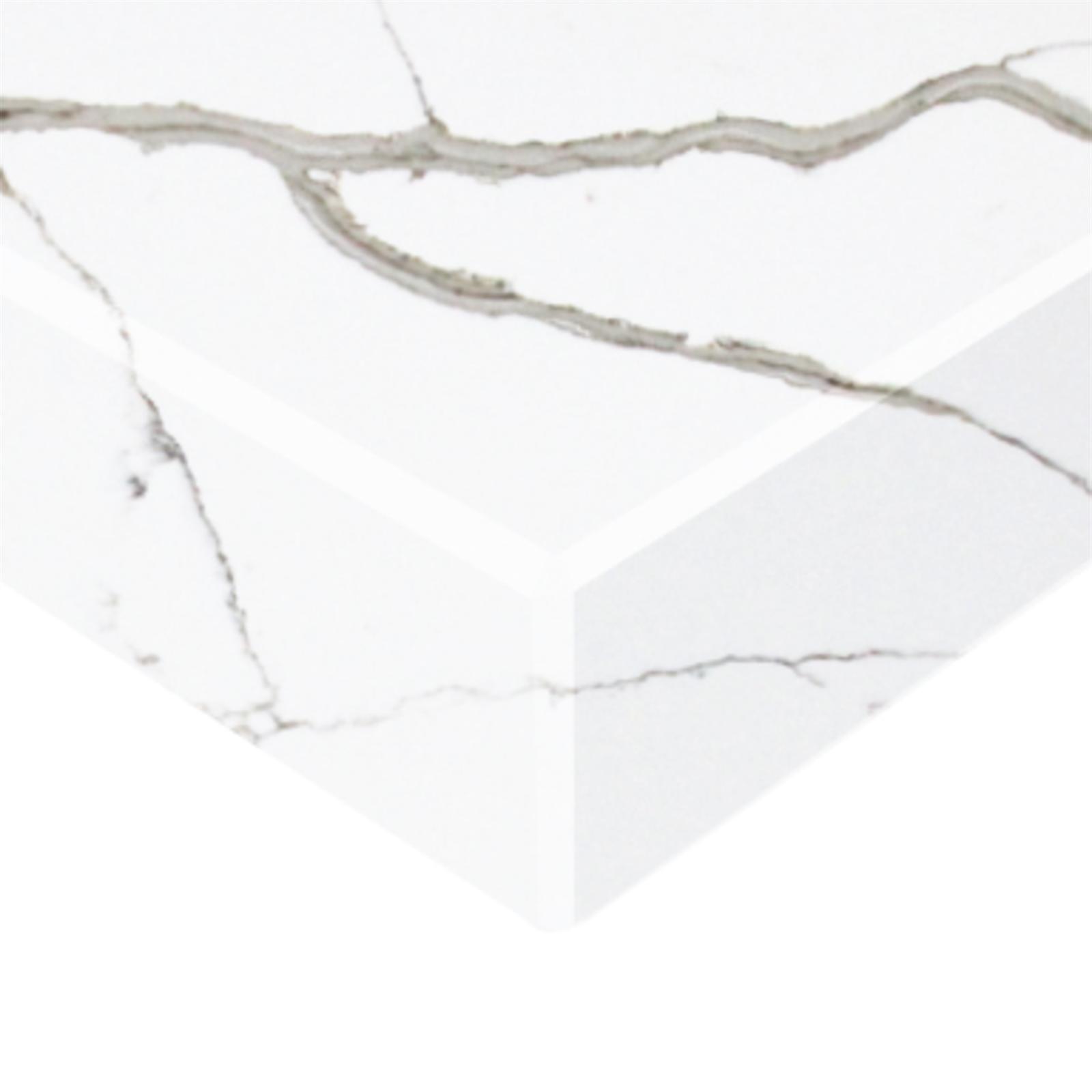 Essential Stone 40mm Round Premium Stone Benchtop - Calacutta Classique