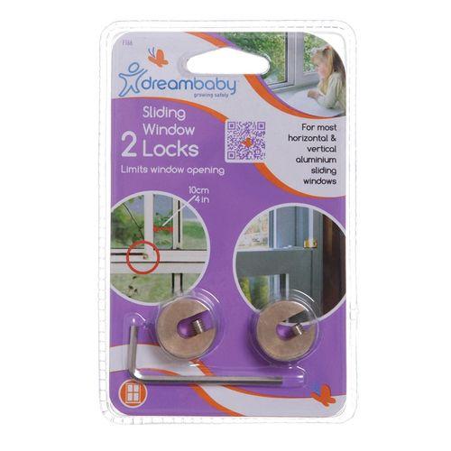 Dreambaby Child Safety Sliding Window Lock - 2 Pack