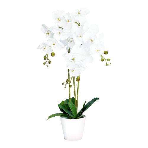 UN-REAL 65cm Artificial White Orchid