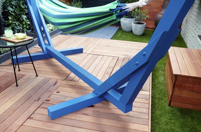 DIY Step Image - D.I.Y. hammock stand . Blob storage upload.