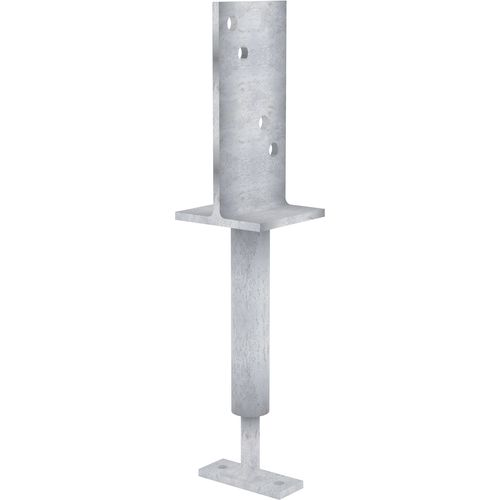 Dunnings 150mm Galvanised Adjustable T Blade Post Support