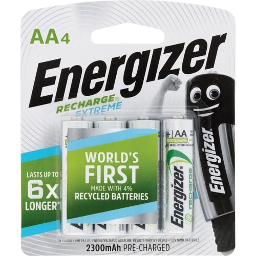 Energizer Rechargable AA Battery - 4 Pack