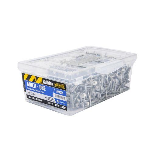 Buildex 8-15 x 25mm Zinc Alloy Button Head Needle Point Screws - 1000 Box