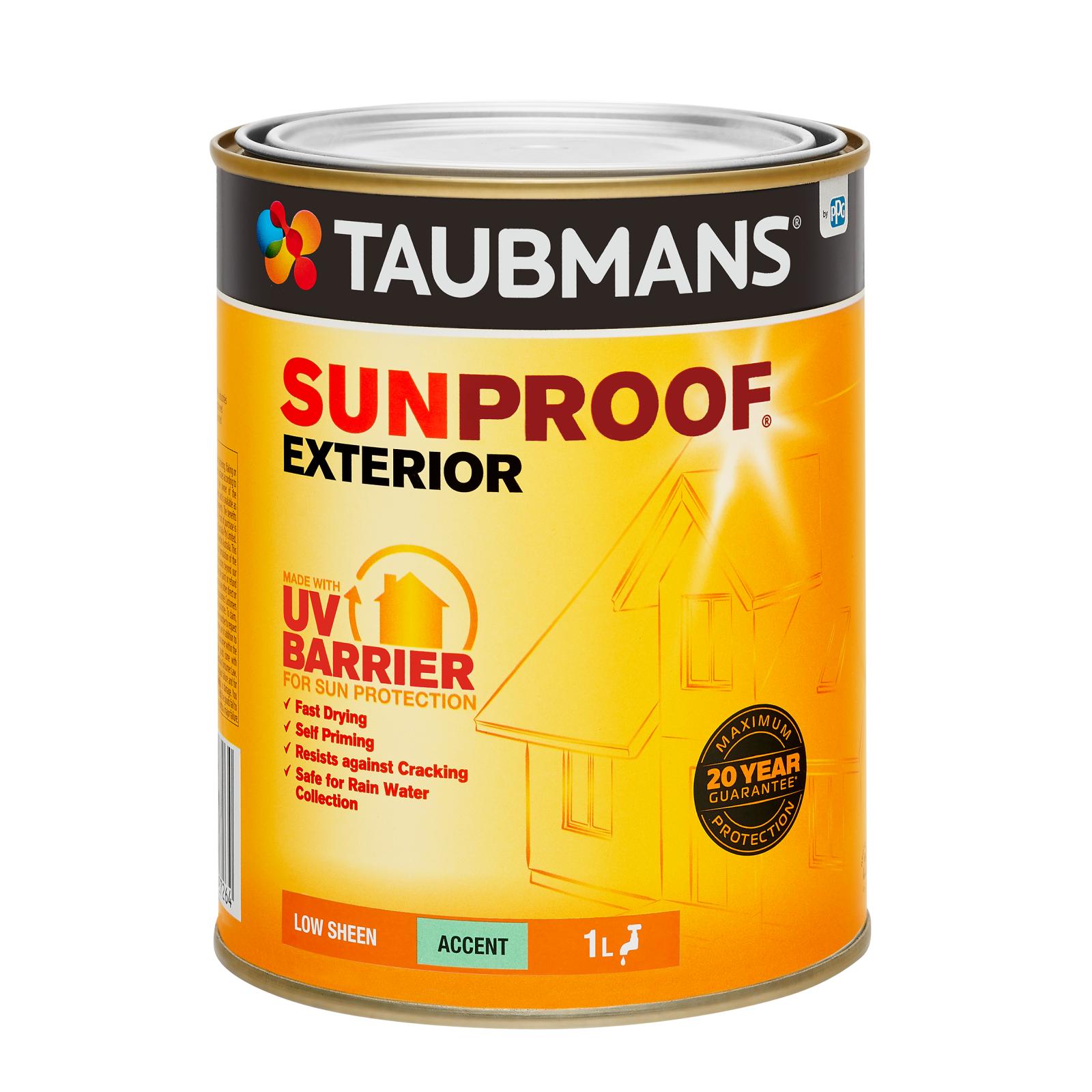 Taubmans Low Sheen Accent Sunproof Exterior Paint - 1L