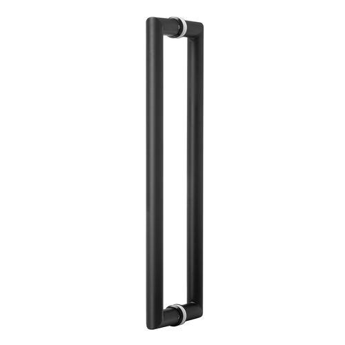 Lemaar 450 x 25mm Black Back To Back Round Entry Handle Set