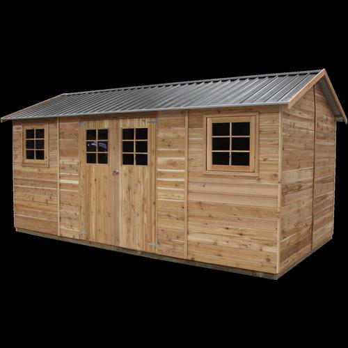 STILLA 4.84 x 2.53 x 2.55m Hollydean Cedar Shed