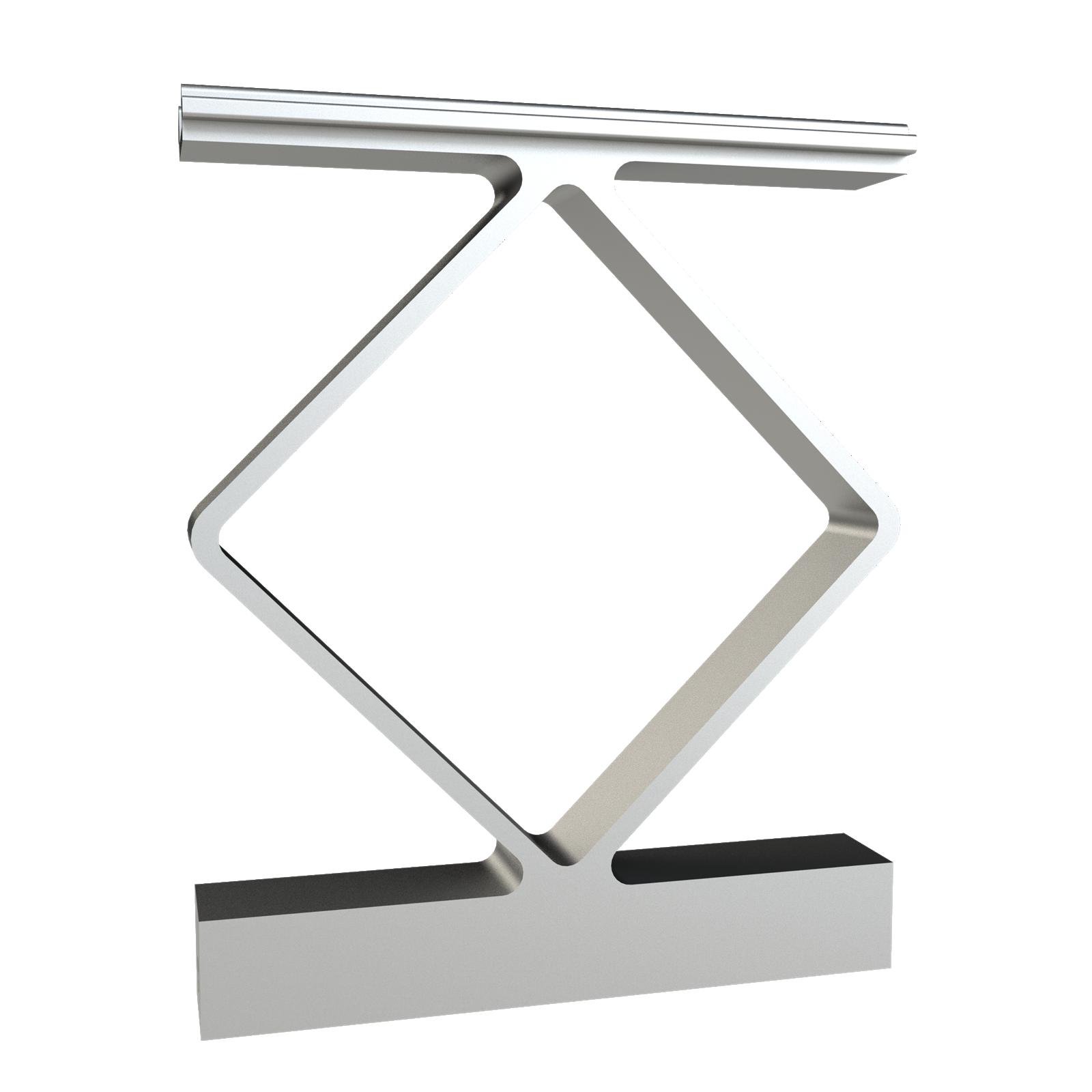 Peak Products Silver Aluminium Balustrade Decorative Handrail Spacer - 4 Pack