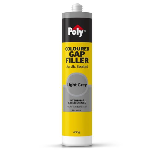 Poly 450g Light Grey Coloured Caulk Gap Filler