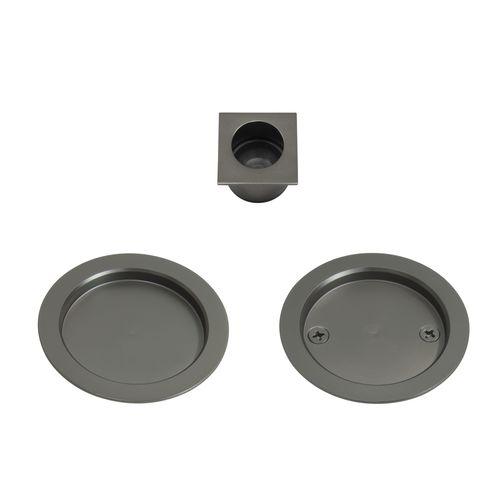 Windsor Graphite Nickel Round Passage Cavity Suite