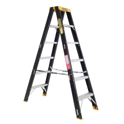 Gorilla 1.8m 120kg Fibreglass Double Sided Step Ladder