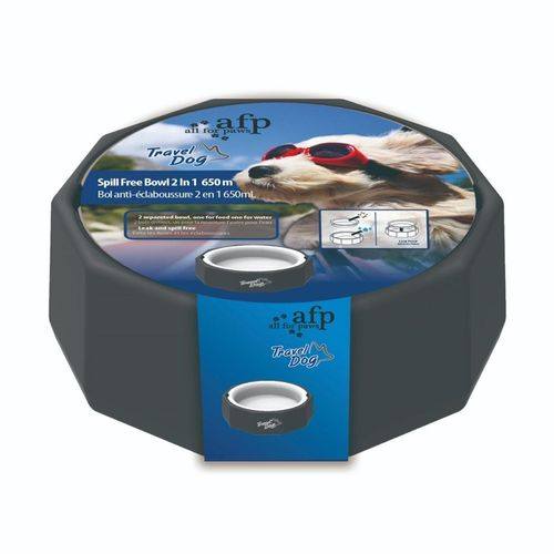 All For Paws Travel Spill Free Dog Bowl 650ml