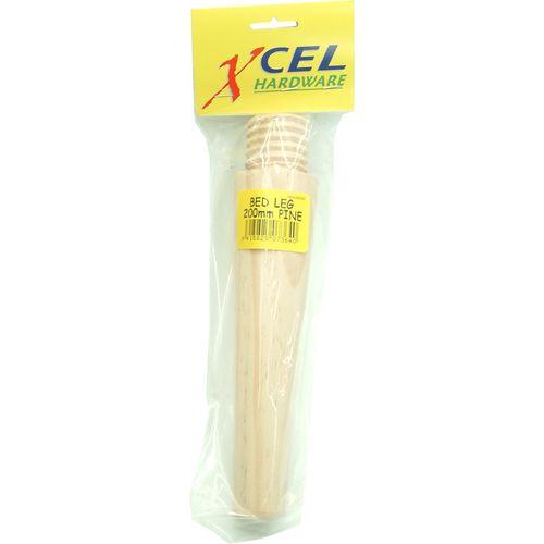 Xcel Wooden Bed Leg 200mm Pine