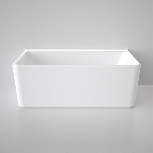 Caroma Freestanding Cube Bath 1800mm Back to Wall White