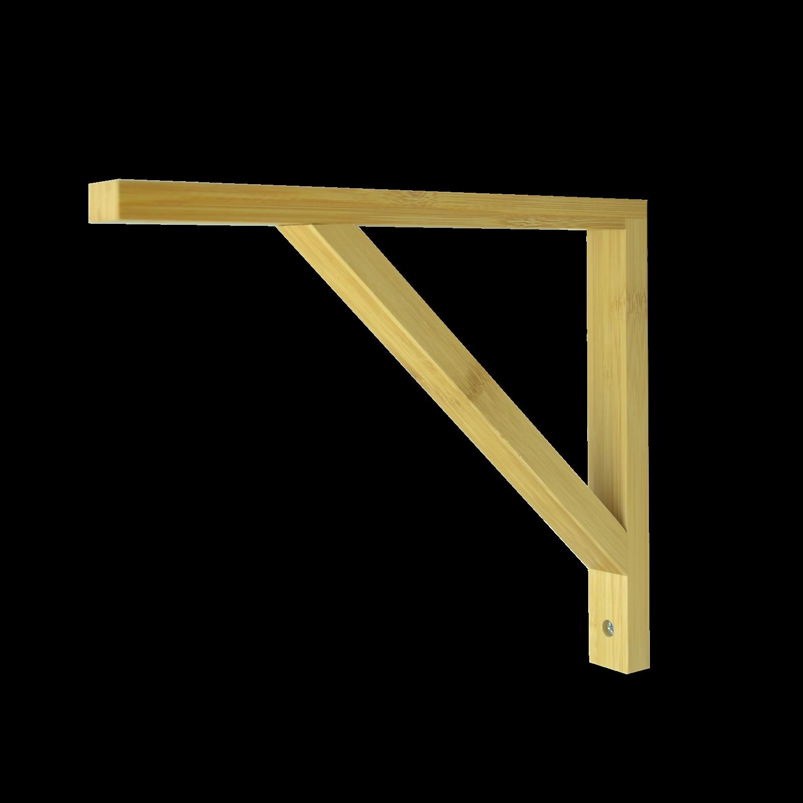 Carinya 230 x 260 x 30 x 15mm Varnished Bamboo Angle Bracket