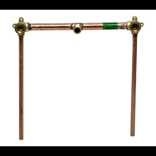 Brasshards 300mm Sink/Bath Inline Combinations Tails With Brass Adaptor