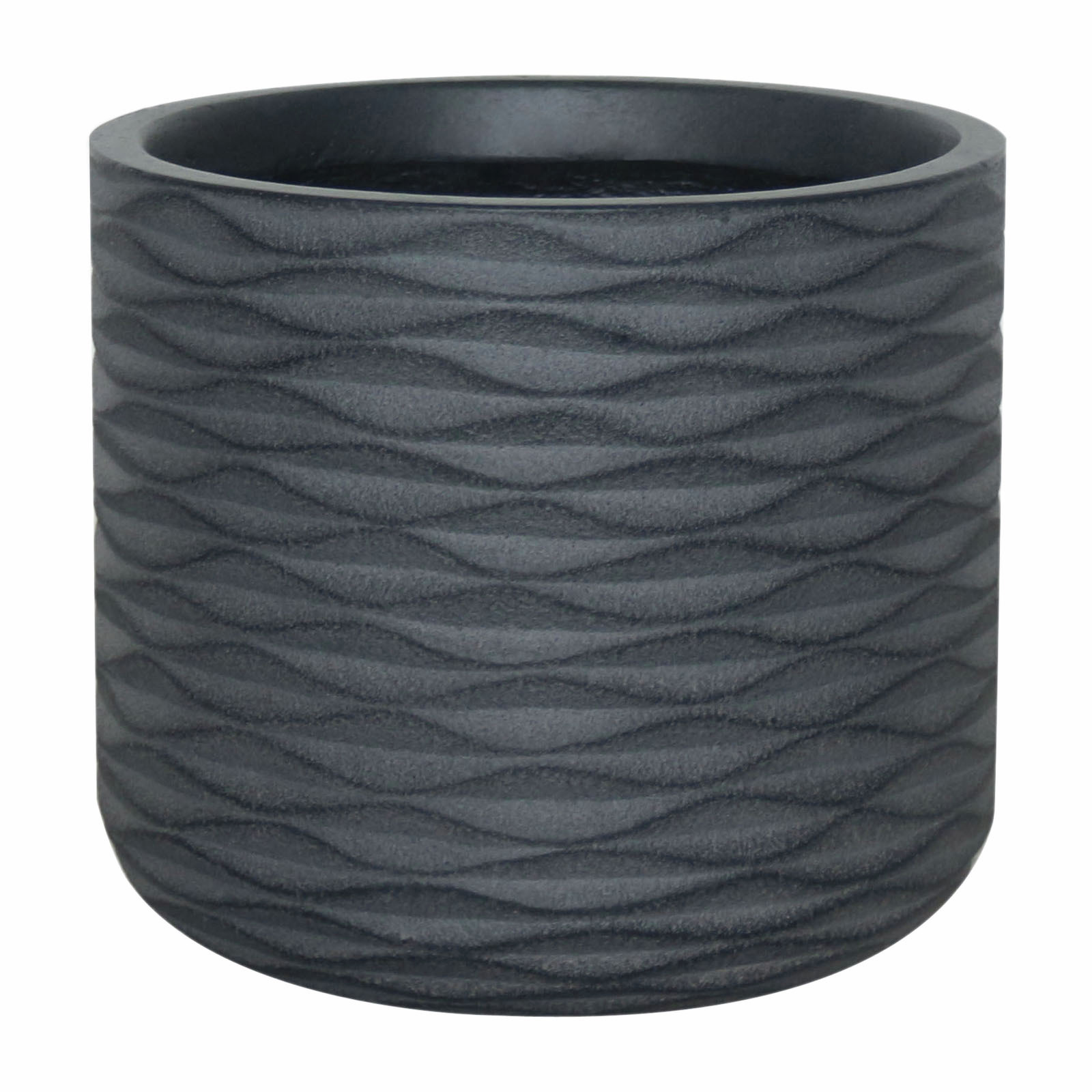 Northcote Pottery 23cm Black Small Wave Cylinder
