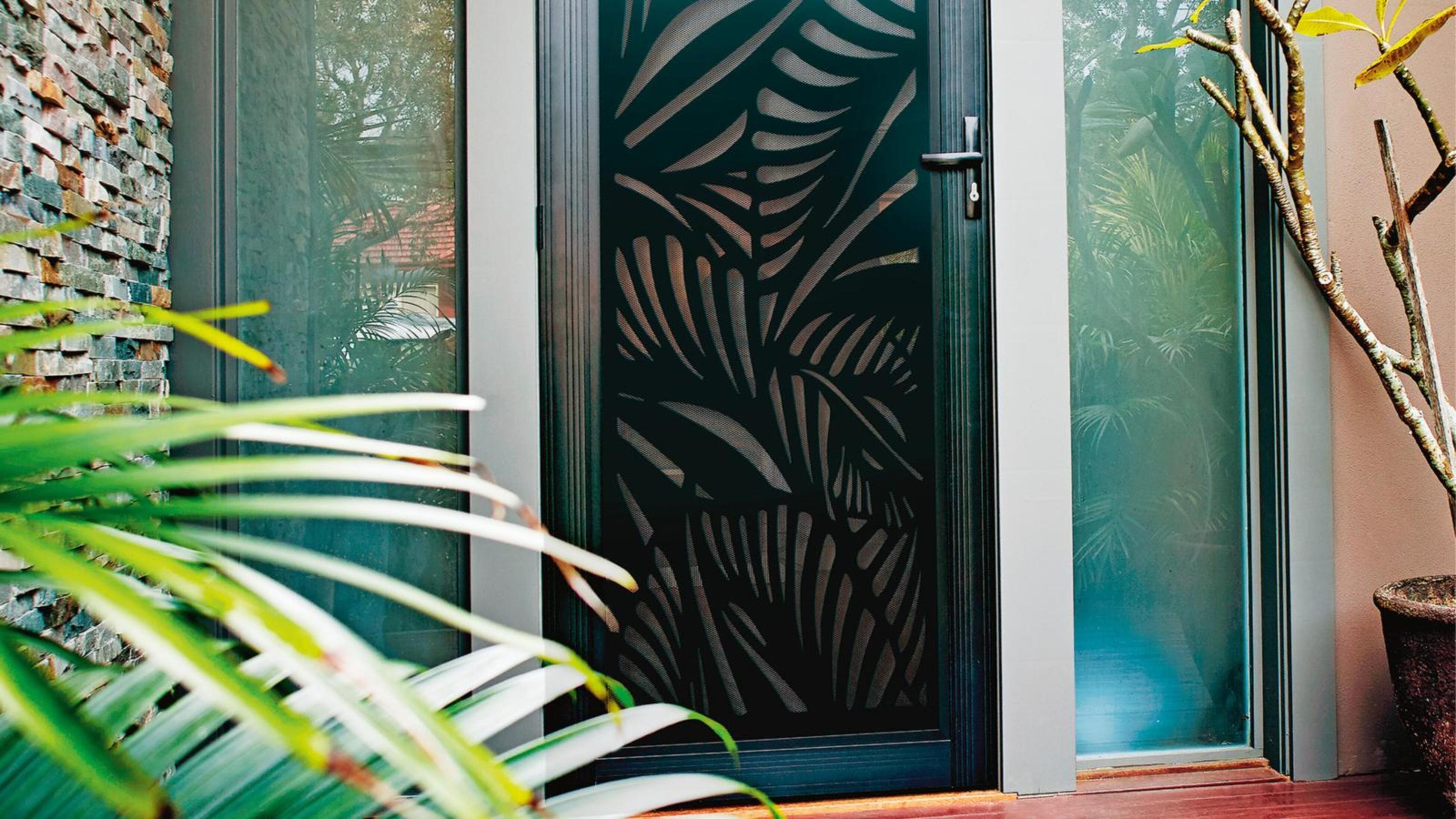 Security screen doors.