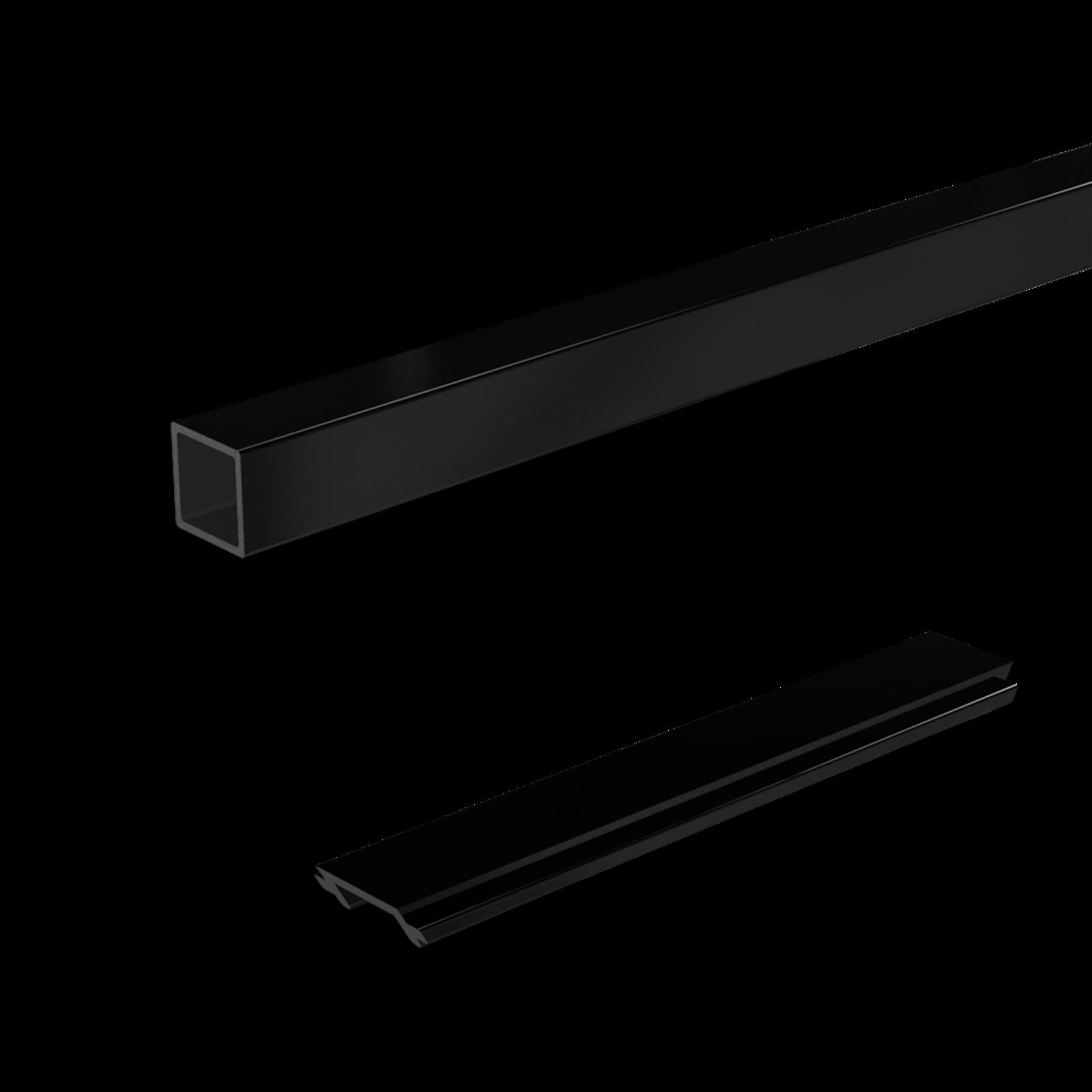 Peak 1800mm Black Aluminium Balustrade Standard Stair Baluster And Spacer Kit