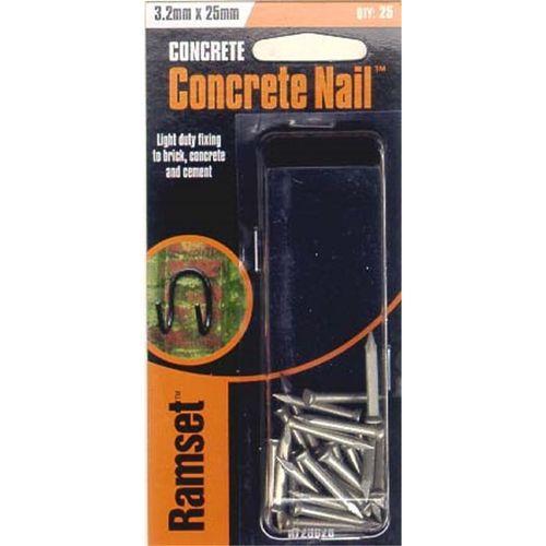Ramset Concrete Nail 3.2 x 25mm 25pk