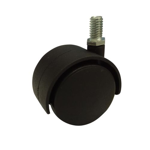 """Move It 50mm Hooded 3/8"""" Threaded Furniture Castor - 2 Pack"""