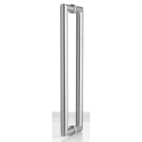 Lemaar 450 x 25mm Stainless Steel Back to Back Round Entry Handle Set