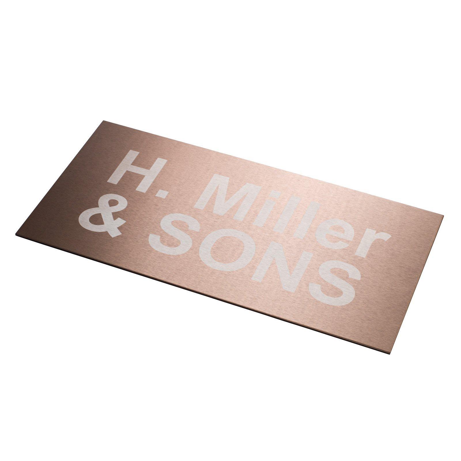 Sandleford 200 x 400mm Copper Aluminium Custom Sign