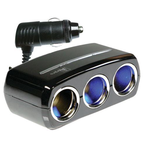 Aerpro Audio Accessory 12/24V 3 Way DC LED Socket