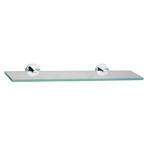 Mondella 500mm Chrome Resonance Glass Shelf