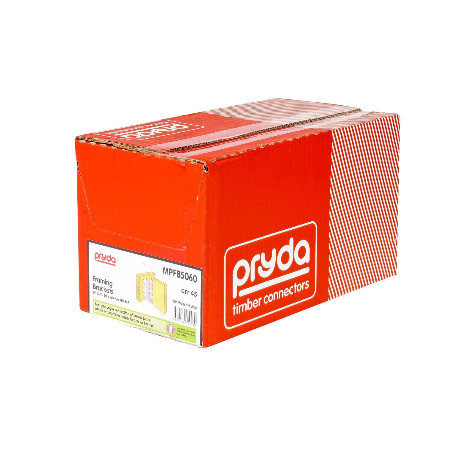 Pryda Joist Hanger Suits 50 x 60mm Box 45