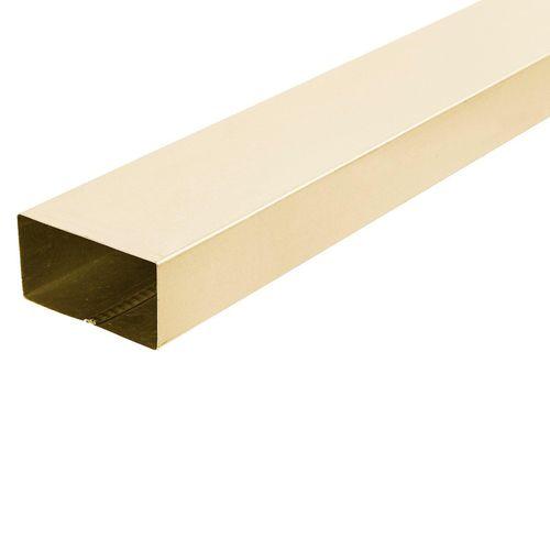 COLORBOND 0.4 x 100 x 50mm x 1.8m Steel Downpipe - Classic Cream